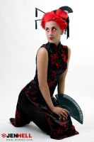 Red Geisha IV by JenHell66
