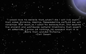 Carl Sagan on the Afterlife by Seachmall