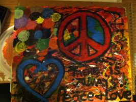 No matter what, peace and love will remain. by TakinItEAZY