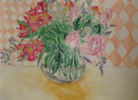 Vase of Flowers by Tamao