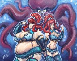 The Agua Twins -Tsumi n Tempes by TheAmericanDream