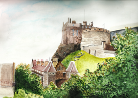 Edinburgh castle. by Murasaki-no-Orenji