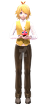 [MMD x FNAF] Male! Chica by Iamhairbrush