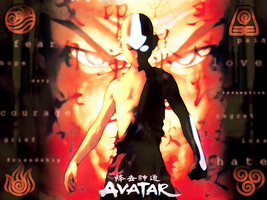 Avatar Wallpaper - Book Fire by BecPriestess