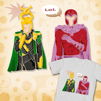 Funny Magneto - t-shirt design banner by Gill-ia