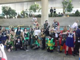 Otakon 2012 - Thors and Lokis by mugiwaraJM