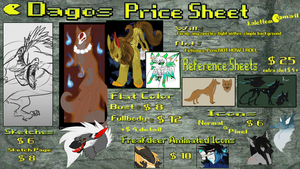 Price Sheet: OPEN by TigresToku