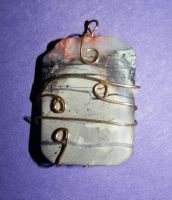 Wire Wrapped Pendant by RebeccaLongArt
