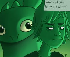 Toothless the stalker by Tenynn