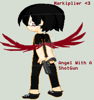 Angel With a ShotGun (Markiplier) by dontleavememasky2975