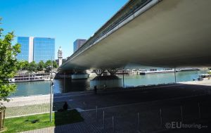 Charles de Gaulle bridge over the river by EUtouring