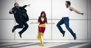 Dark Phoenix vs WOlverine vs Sabretooth by Evejo
