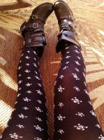 Skull Tights And Boots by Lovely-LaceyAnn-Art