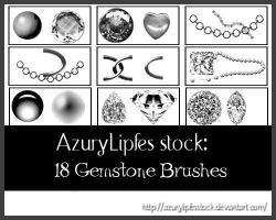 Gemstone brushes by AzurylipfesStock