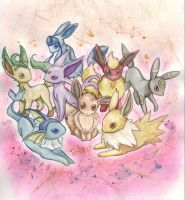 Eeveelutionzz by shazy