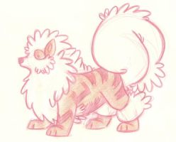 Arcanine Doodle by Majykal-Melodi