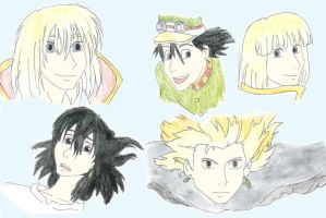 HMC: Drawings of Howl by xXSweeneyLovettXx