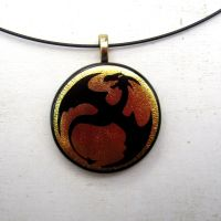 Fused Glass Dragon Flight Gold Mix by FusedElegance