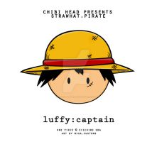Chibi Head: Monkey D. Luffy by infinity-myka