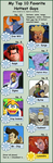 My top 10 Fav CartoonGuys by SpriteGirl