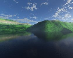 Lakeside with Clouds by peegee84