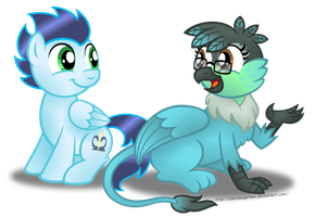 Commission: Chattin with Soarin by AleximusPrime