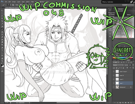 Wip lineart commission 048 by Angy89