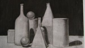 Charcoal Still Life by PhantomDP