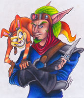 Gift-Jak and Daxter by polar27