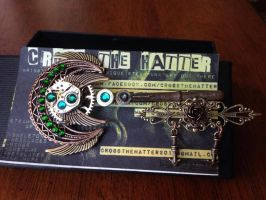 Steampunk Skeleton Key Pin (Coined Elegance) by CrossTheHatter