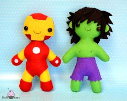 Iron Man and Hulk :) by Dollface-RYJ