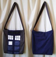 Sac Tardis Dr.Who inspiration, reycled by Emillye