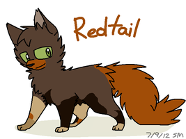 Redtail Colour Reference -Warriors- by PikaPlatinum