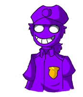 .:vincent the purple guy:. by XCrystalthecatX