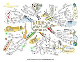 Nature has Answers Mind Map by Creativeinspiration