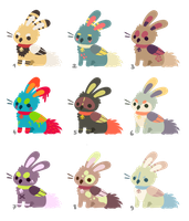 CLOSED - Bunny Griffs point adopts 2 by Chigle