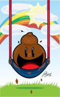 Poop on a Swing by MrTalent