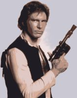 Star Wars Han Solo Paint By Number Art Kit by numberedart