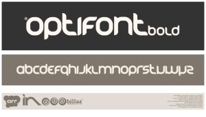 Opti Font bold. by chamillio