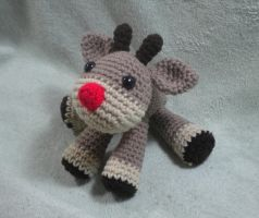 Rudolph the Reindeer - crochet amigurumi doll by StitchedLoveCrochet