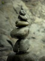 Stacked Pebbles by creatingJunk