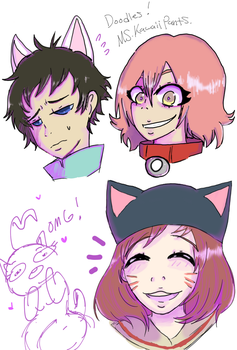 Fooly Cooly doodles by MsKawaiiPants