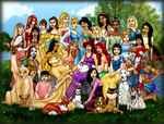 The Disney Women by FalseDisposition