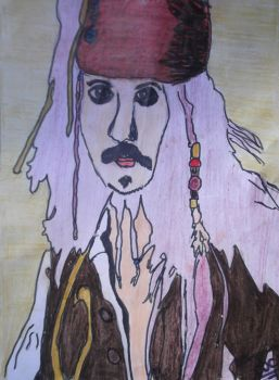 Retrato Jack Sparrow by Winnes