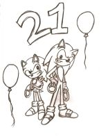 happy 21 bday sonic by shadamysuper