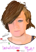 Thea Banks (I'mnotweirdIswear) - Tablet Drawing by BingotheCat