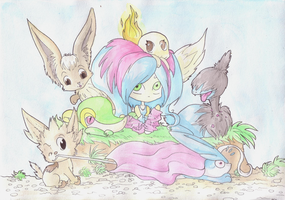 All the Pokegroup - Color by Rena-Circa