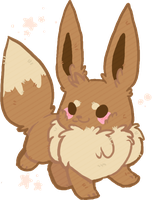 Chubby Eevee by AppleDew