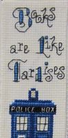 Tardis Bookmark by RanebowStitches