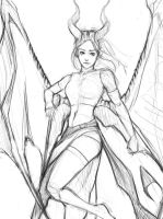 Sketching A Draconian Succubus by Whatneyesore